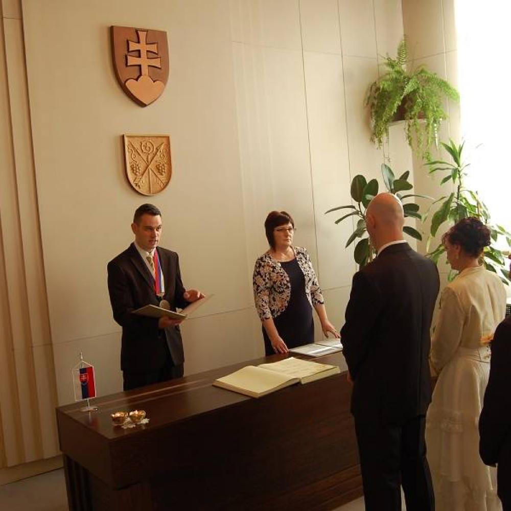 Kovács Mária és Danča László házasságkötése