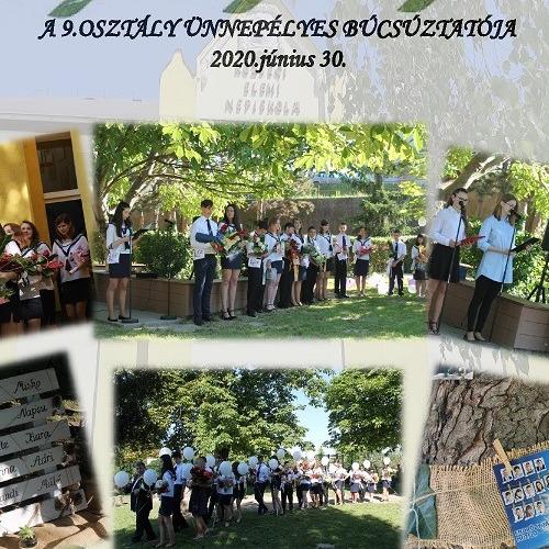 A kilencedikese ballagása és ünnepélyes tanévzáró Muzslán
