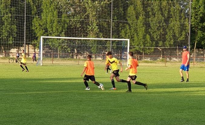 Tréningový zápas žiackeho futbalového mužstva U13 v Mužle