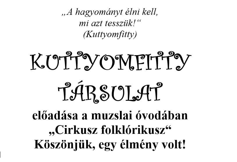 Predstavenie dvojice Kuttyomfitty v mužlianskej materskej škole