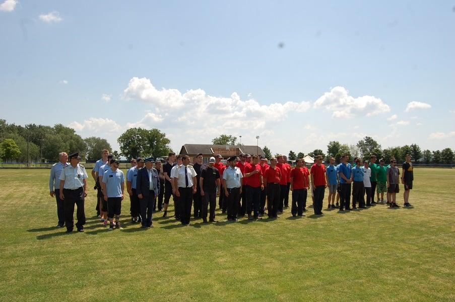 Súťaž dobrovoľných hasičov štúrovskej oblasti v obci Mužla