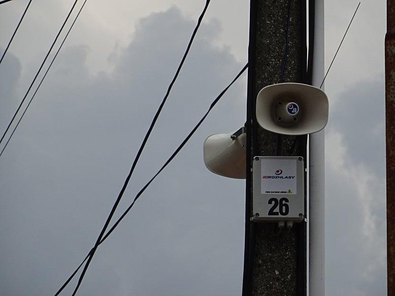 Nový systém obecného rozhlasu v obci Mužla