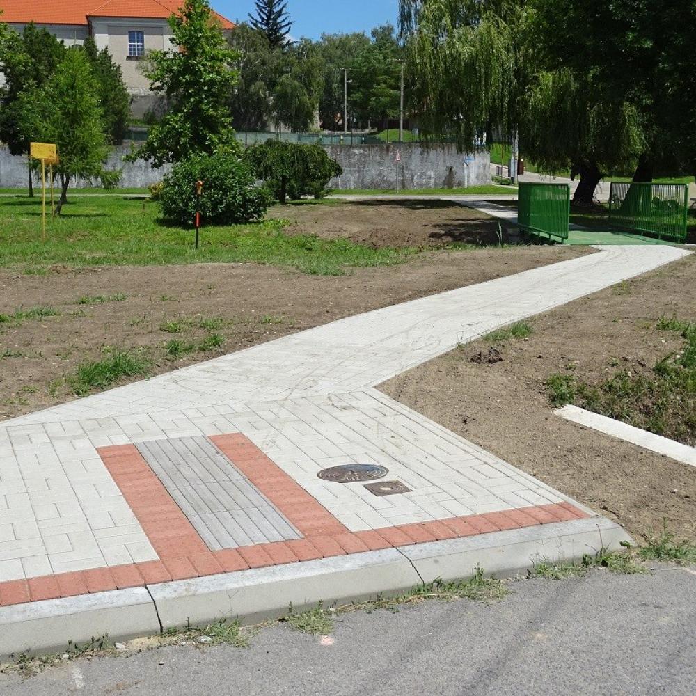 Pokračujeme v projekte zvýšenia bezpečnosti chodcov v centre obce Mužla
