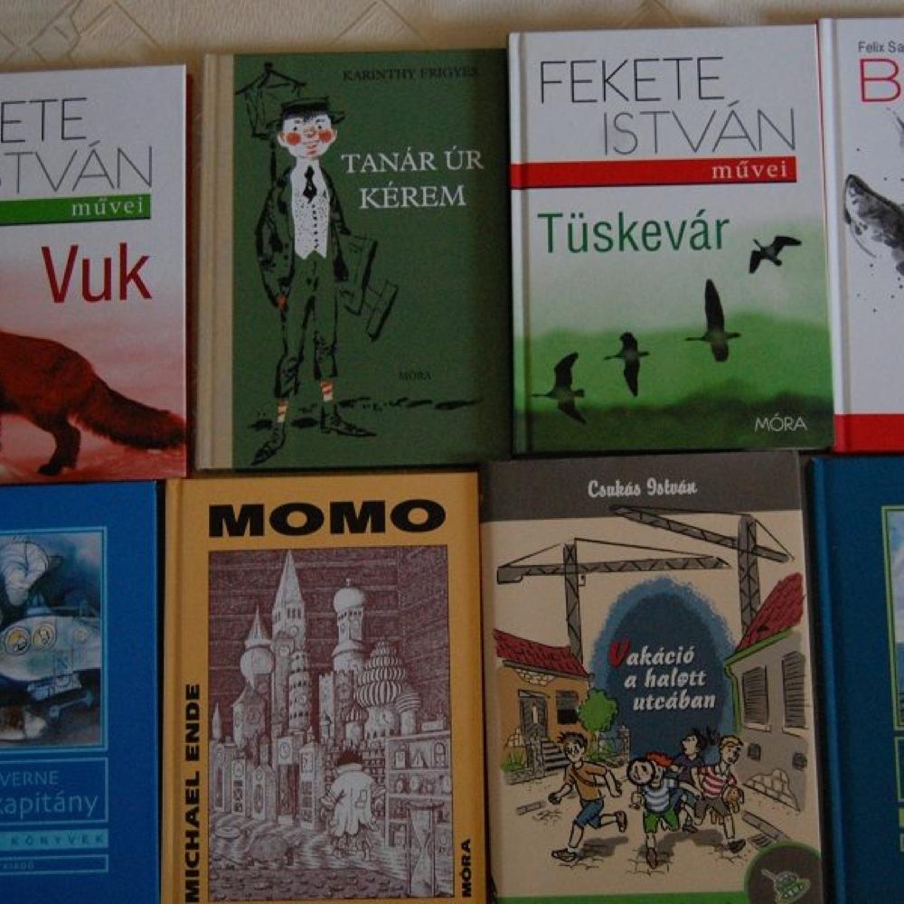 Tieto knihy darovalo Nyeregesújfalu Mužlianskej knižnici