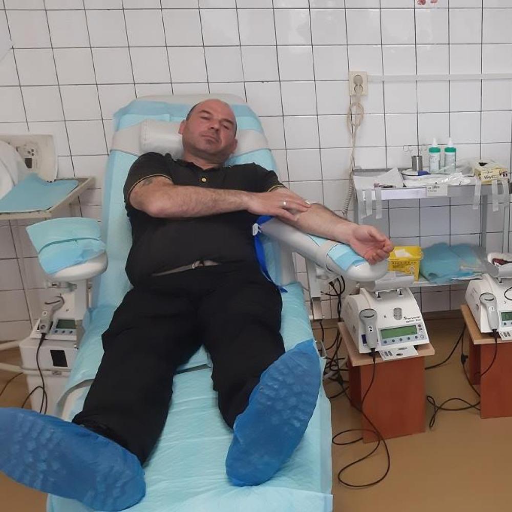 Mužlianski darcovia krvi na transfúznej stanici v Nových Zámkoch