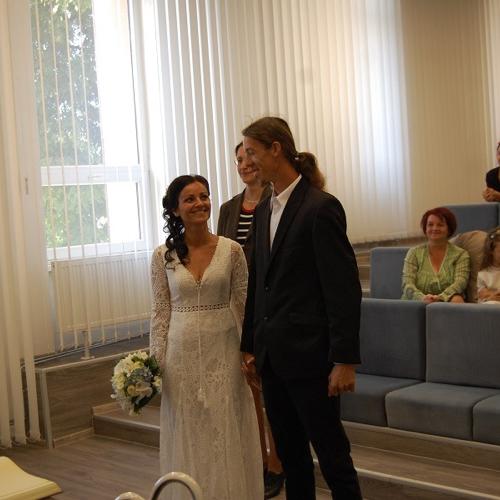 Uzavretie manželstva medzi Dudás László a Mikus Hajnalka