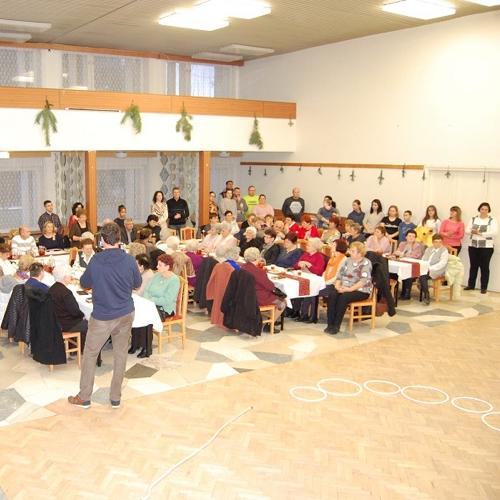 Vianočné posedenie Klubu dôchodcov