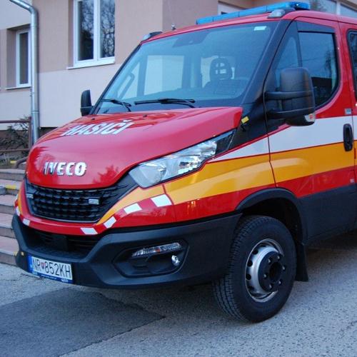 Nové hasičské vozidlo v Mužle