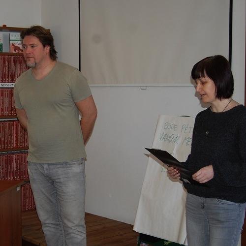 Vystúpeie spisovateľa pohádok Pétera Bödeho v kižnici