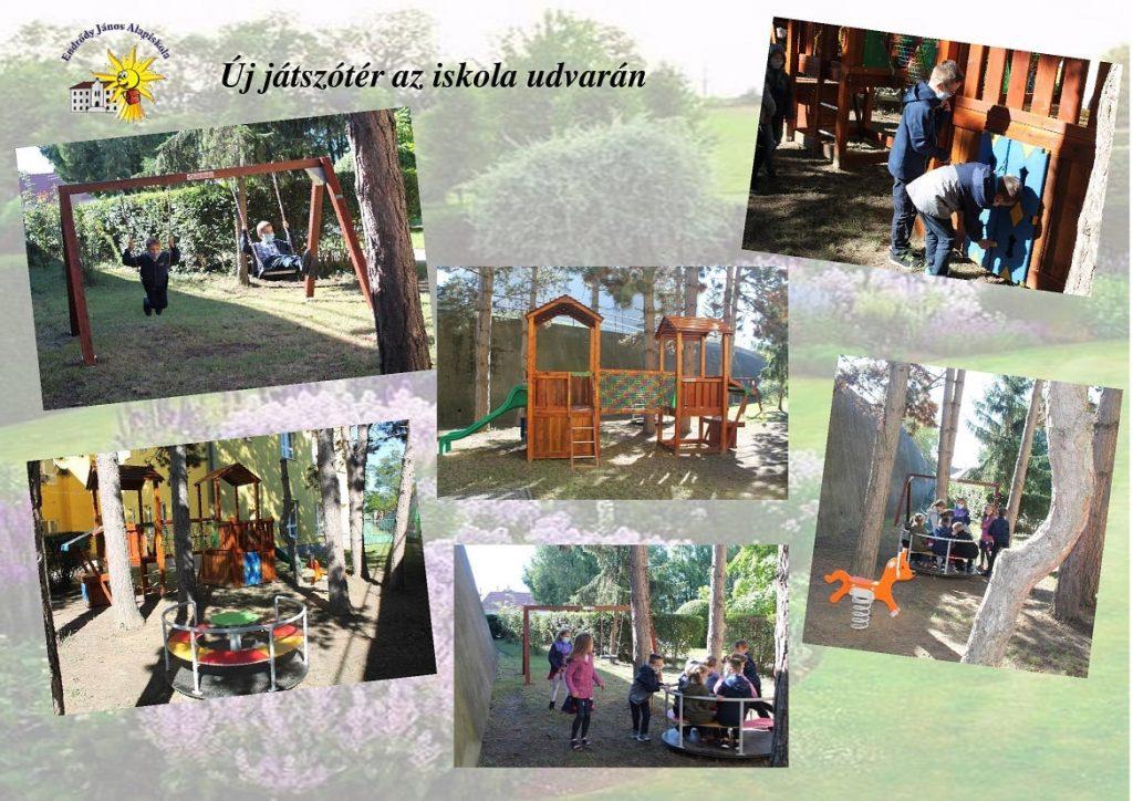 Nové detské ihrisko na dvore ZŠ v Mužle