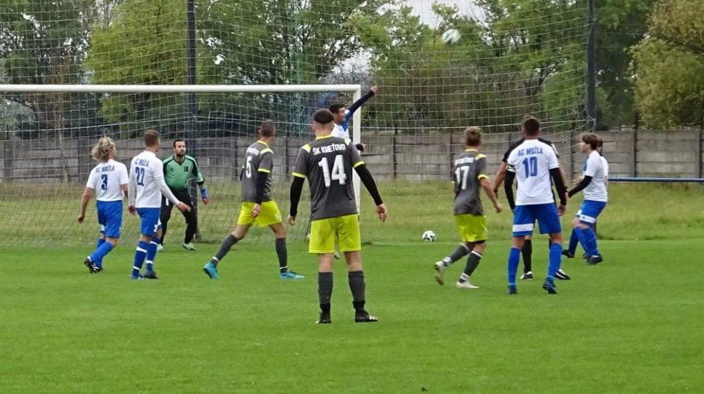 Výsledok zápasu V. ligy:  AC Mužla – Kmeťovo 1:3