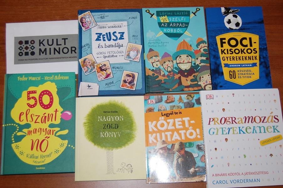 Vďaka dotácie KULTMINORu sa obohatila naša knižnica