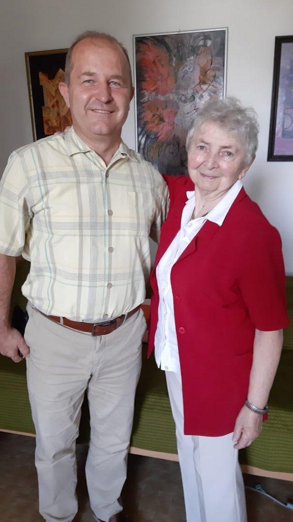 Meglátogattam Léván Nagyné Mészáros Gabriella tanárnőt