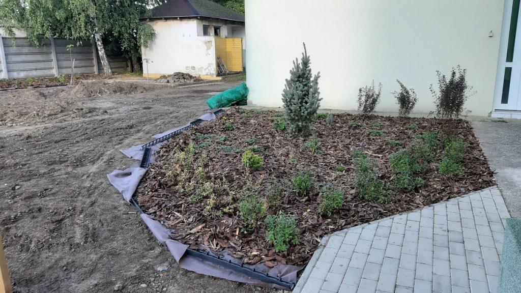 A muzslai óvoda udvarának parkosítása